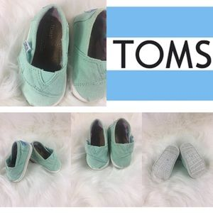 TOMS T4 Mint Teal Green 340314 toddler